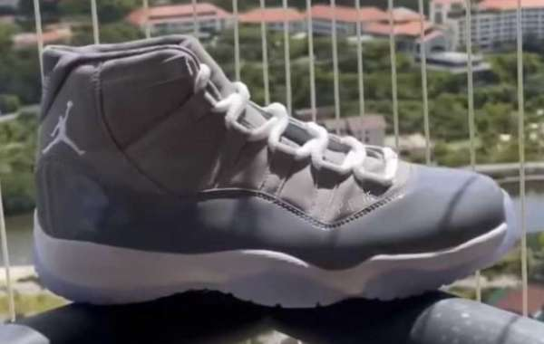 """Money ready! The """"Cool Grey"""" Air Jordan 11 release date is here! The latest physical + upper foot"""